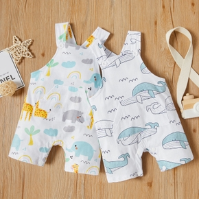 Baby Animal Whale or Elephant Print Strappy Bodysuits