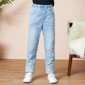 Pretty Star Embroidery Straight Jeans