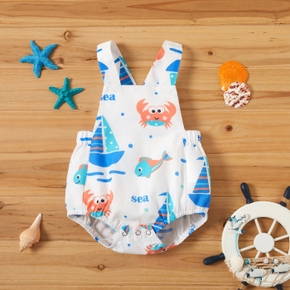 1pc Baby Boy casual Animal&Sailing ship Rompers & Bodysuits