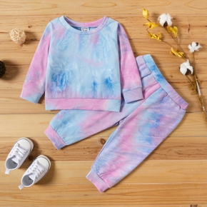 Baby Girl Tie Dye Pullover and Pants Set