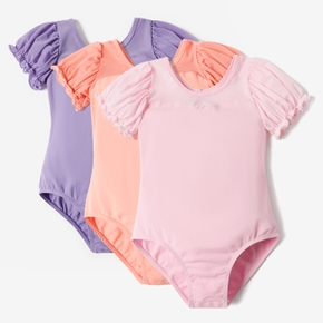 One-piece Short Puff Sleeves Dance-wear for Girls