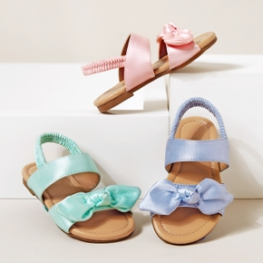 Toddler / Kid Solid Bowknot Sandals