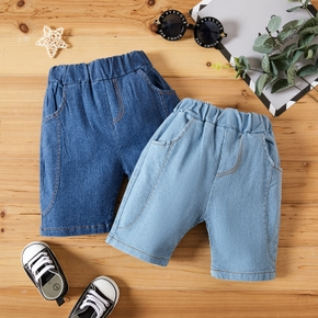 1pc Baby Unisex Solid Cowboy Cotton Pants