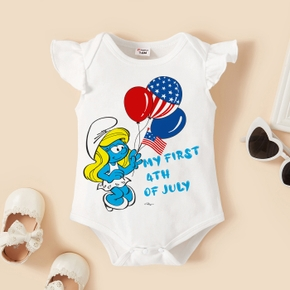 Smurfs Baby Girl My First 4th of July Cotton Bodysuit