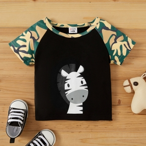 1pc Baby Boy Short-sleeve casual Animal Tee