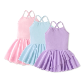 Classic One-piece Solid Color Dance-wear Ballet Dress for Girls