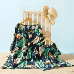 Plant Leaf Print Cover Up for Mommy and Me