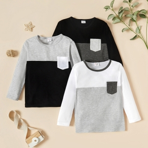 Toddler Boy Casual Contrast T-shirt