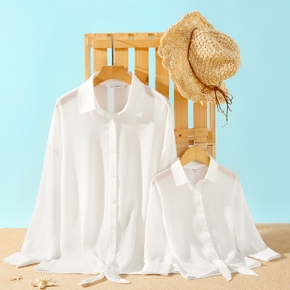 Solid Shirt Beach Cover Up for Mommy and Me