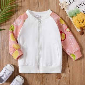 1pc Pretty Baby Girl Long-sleeve Cotton  casual Fruit Coat & Jacket
