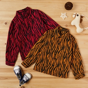Baby / Toddler Zebra Print Fashionable Long-sleeve Shirt