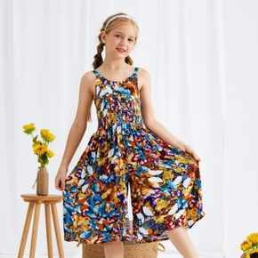 Beautiful Kid Girl Colorful Butterfly Pattern Jumpsuit