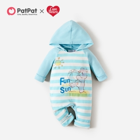 Care Bears Baby Boy Fun in the Sun Stripe Cotton Hooded Jumpsuit