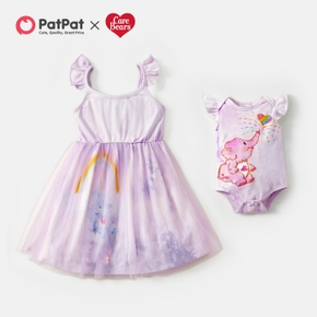 Care Bears Sibling Cotton Elephant and Rainbow Dress and Romper For Sisters