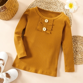 Baby / Toddler Basic Ruffled Slim Tee