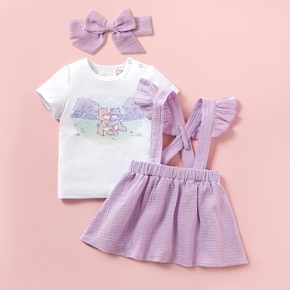 "Care Bears "" Share a Hug"" Cotton Tee, Skirtall & Bow"