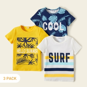 3-piece Kids Boy Vacation Letter Print Tees