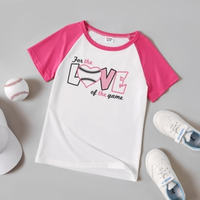 Letter Print Short-sleeve Tee for Toddlers / Kids