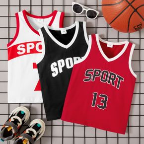 Toddler Boy Sporty Letter Camisole