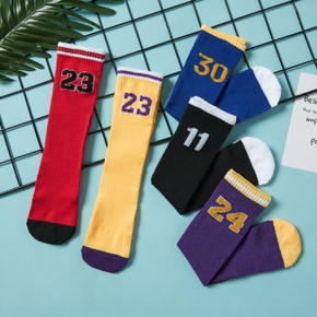 Number Print Athleisure Stockings Socks for Toddlers / Kids