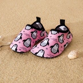 Pink Penguin Cartoon Athletic Beach Water Shoes for Toddlers / Kids