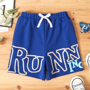 Toddler Boy Letter Print Adjustable Belt Shorts