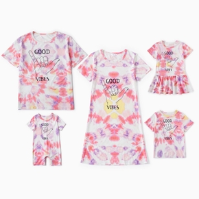 Tie Dye Series Family Matching Sets(T-shirts Dresses for Mom and Girl - T-shirts - Baby Rompers)