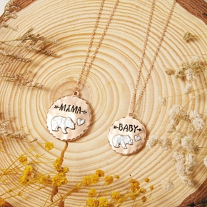 Bear Pattern Pendant Necklaces for Mommy and Me