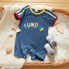 Baby Color contrast Sports Letter Rompers & Bodysuits