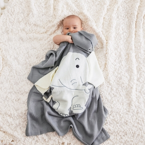 Elefant Design Cartoon kintted Baby swaddle Decke