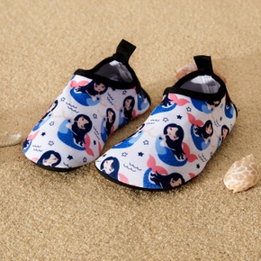 Mermaid Cartoon Athletic Beach Water Shoes for Toddlers / Kids
