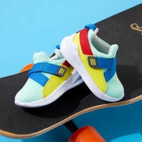 Toddler / Kid Colorblock Velcro Closure Sports Shoes