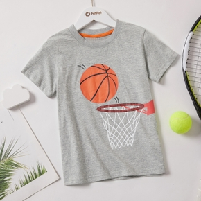 Basketball Print Athleisure Tee for Toddlers / Kids