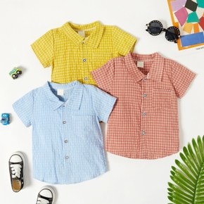 Toddler Boy Casual Plaid Summer Shirt