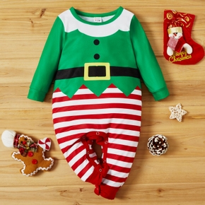 Baby Christmas Striped Jumpsuit