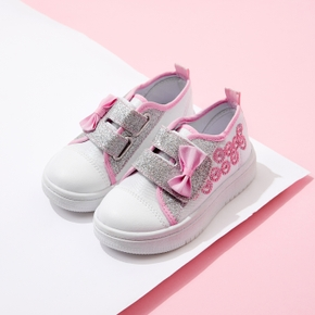Kid Bowknot Velcro Closure Casual Shoes