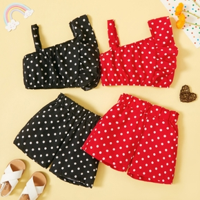 2-piece Toddler Girl Polka dots Camisole and Shorts Set