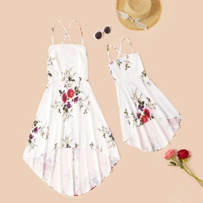 Floral Print Sling Dresses for Mommy and Me