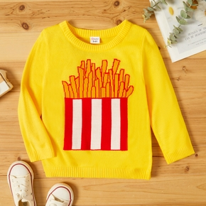 Toddler Girl/Boy French fries Print Sweater