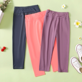 Solid Activewear Leggings Pants for Toddlers / Kids