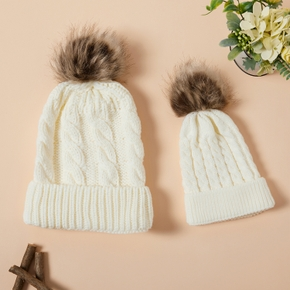 Autumn/Winter Multicolor Hairball Knit Hats