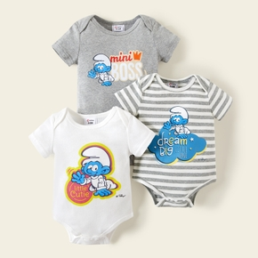 Smurfs Baby Boy Mini Boss Cotton Bodysuit/One Piece