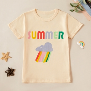 Pretty Kid Boy/Girl Cotton casual Rainbow Letter T-shirt