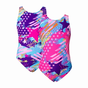 Colorful Stars Print One-piece Swimsuit for Kids