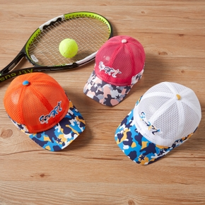 'Sport' Letter Camouflage Print Mesh Athleisure Cap for Toddlers / Kids