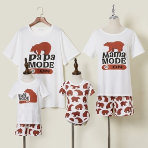 Bear and Letter Print Family Matching Pajamas (Flame Resistant)