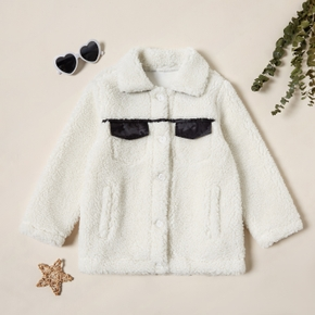 Stylish Fleece Pocket Lapel Collar Coat Jacket