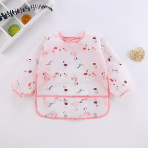 Baby Long-sleeved Waterproof Anti-wearing Clothes Baby Eating Gowns Protective Clothes With Rice