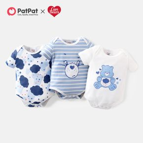 Care Bears Cloud Stripe and Sweetheart Baby Romper/One Piece
