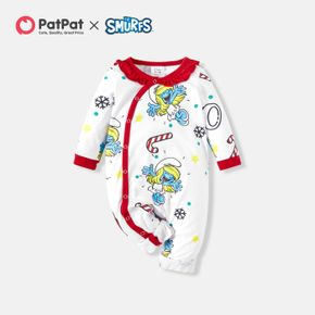 Smurfs Baby Girl Flounced Collar Candy Romper/One Piece